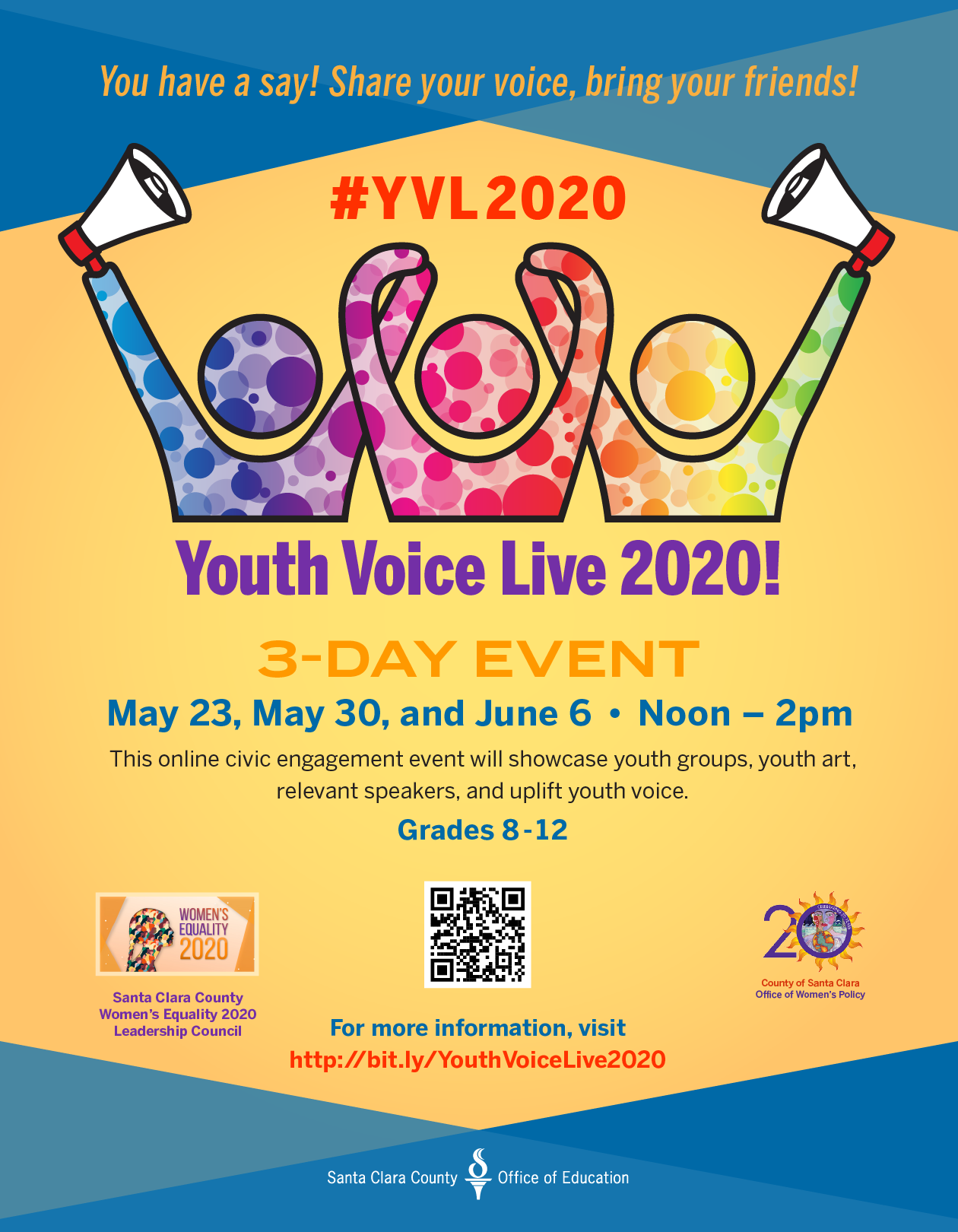 Register for May 9th Youth Voice Live 2020